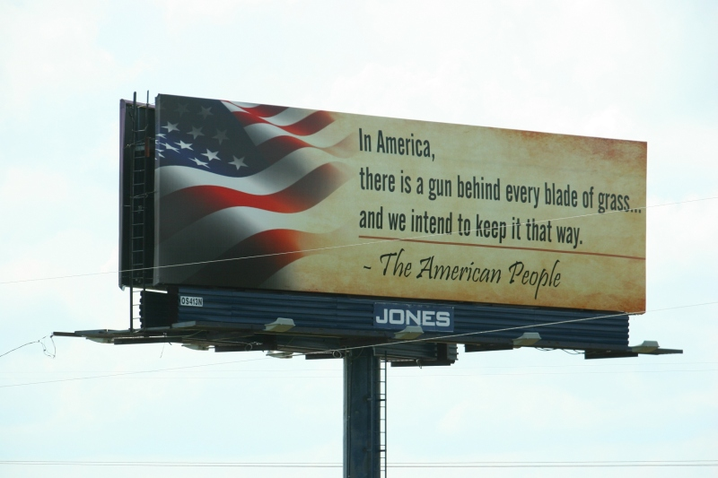 A strong opinion expressed on a billboard along Interstate 41 between Appleton and Oshkosh.