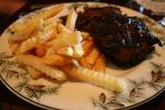Potawatomi Inn, 14 BBQ ribs &fries