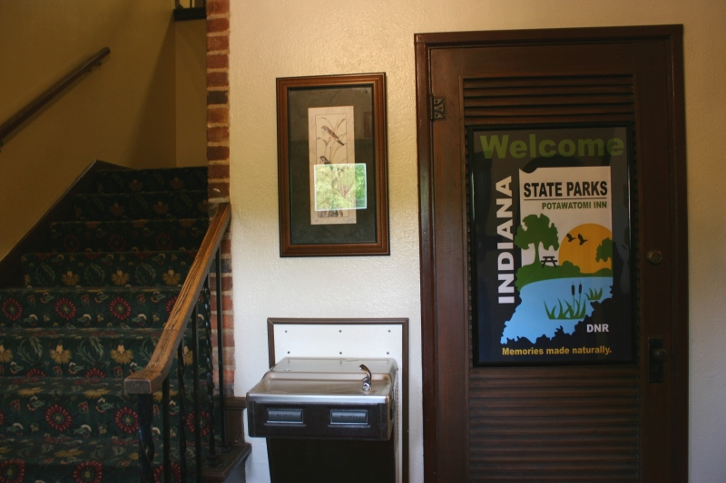 Lovely framed signage inside the entry to the historic section of the inn complex