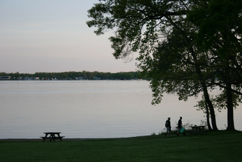 A sunset view of Lake James in Pokagon State Park, Angola, Indiana.