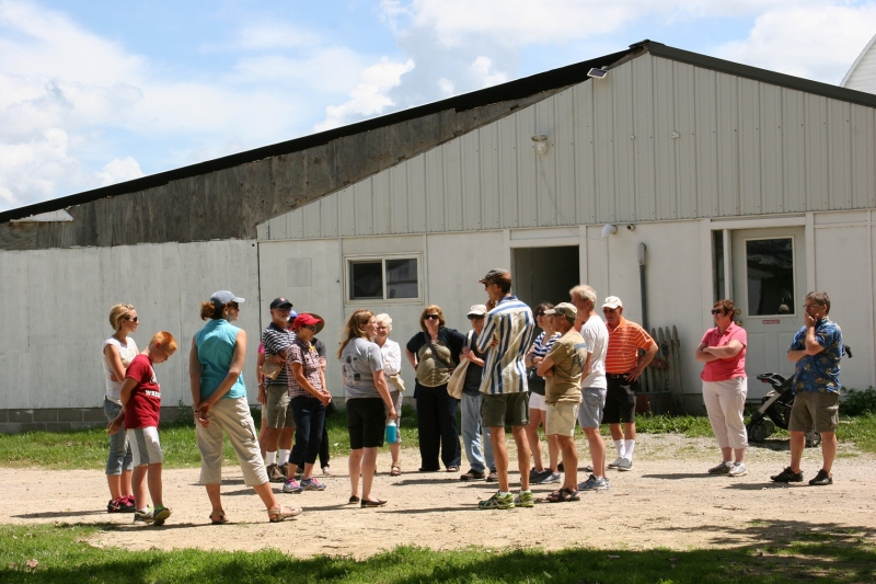 Jodi answers questions once the barn tour is finished.