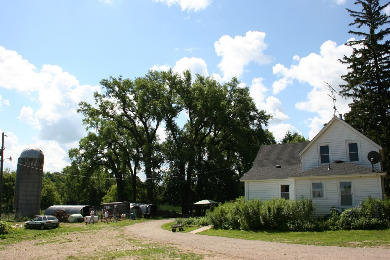 The Zemans' farmhouse and yard.