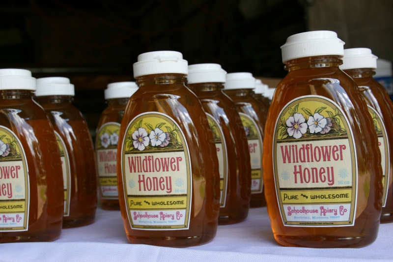 Customers could also purchase Wildflower Honey from Schoolhouse Apiary during the farm tour.