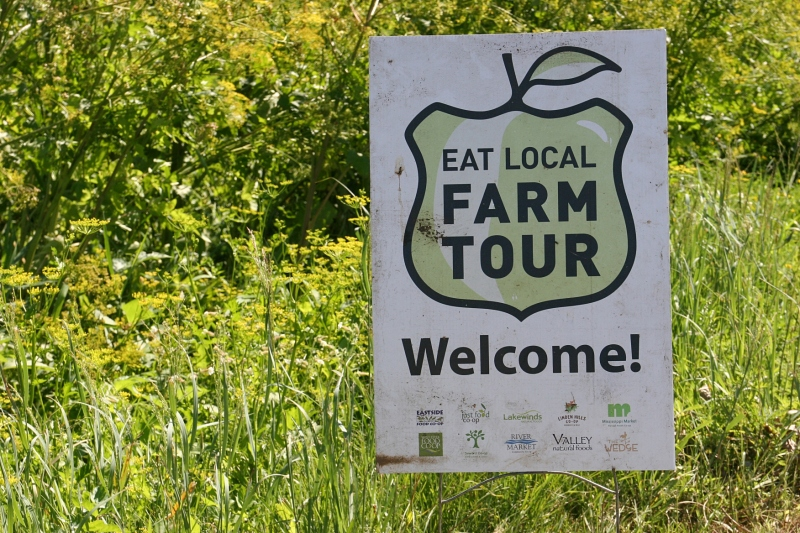 Simple Harvest Organic Farm, 7 Eat Local sign
