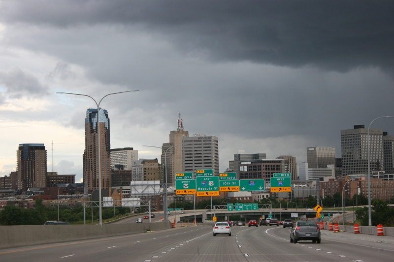 Rain clouds threatened as my husband and I headed south into St. Paul late Saturday afternoon.