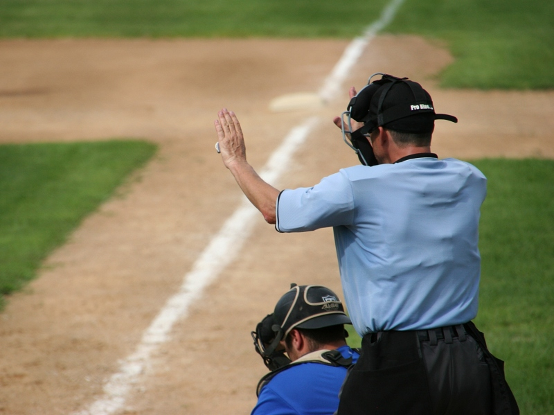 I had no clue what any of the ump's hand signals meant.