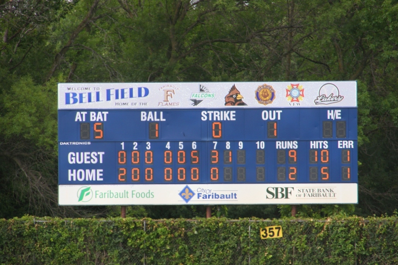 The score wasn't looking too good as the game moved in to the final innings.