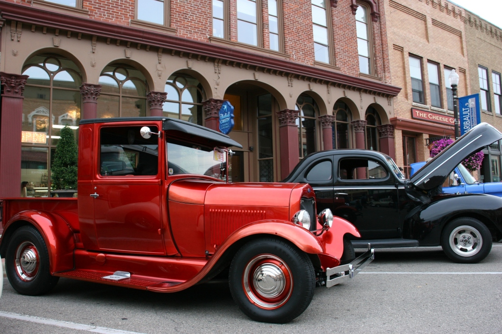 That's a chopped Model A, left.