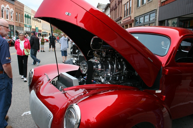 One of the most unusual vehicles included this one. There's hole in the hood that allows the motor part to extend through the hood and for the vehicle to be driven.