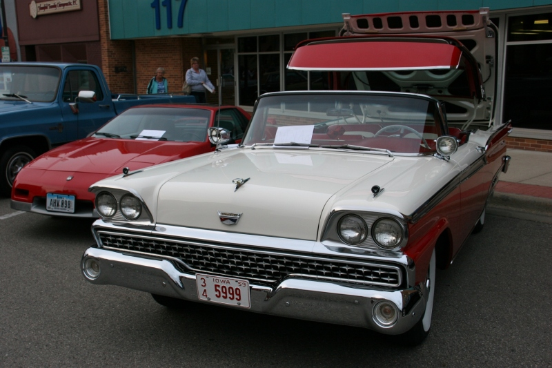One of the most unusual cars: a 1959 Ford Skyliner with a folding trunk.