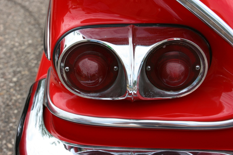 The tail light on the 1958 Chevy I liked.