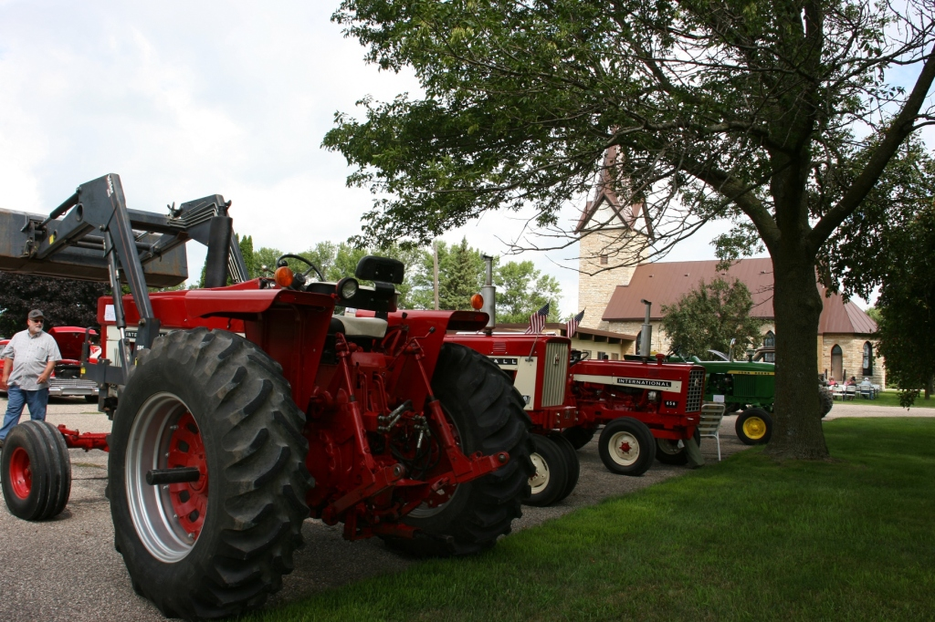 Several tractors were registered at the show.