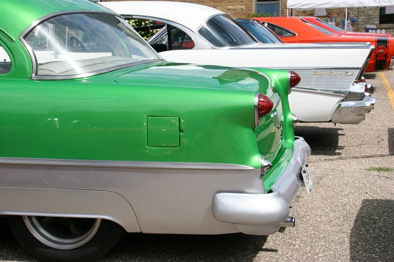 Look at the graceful lines in these vintage cars.