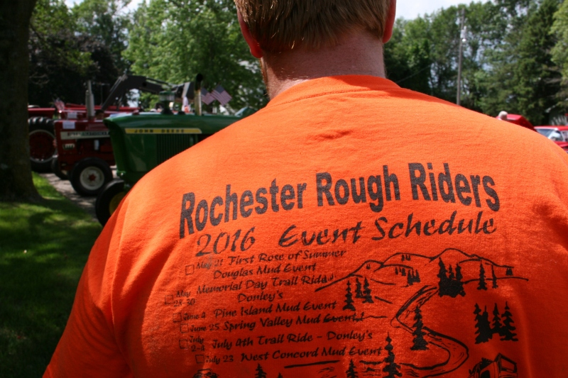 Shane has participated in some of the events listed on the back of his club t-shirt.