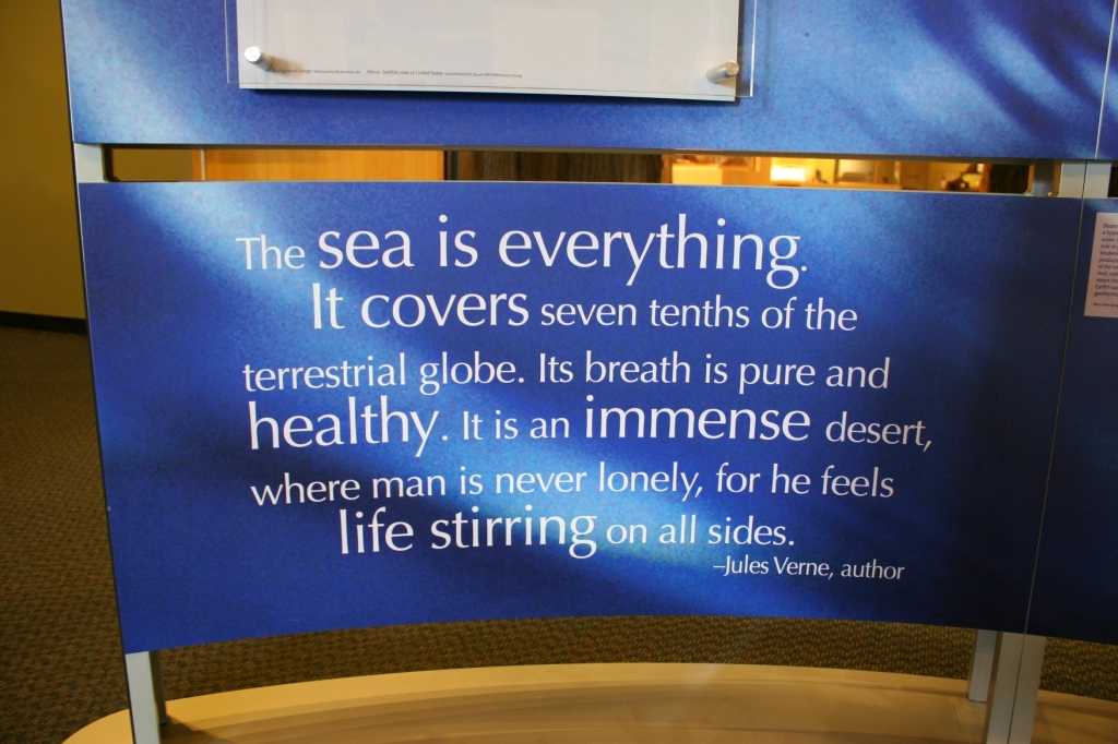 One of many quotes spark conversations about water.