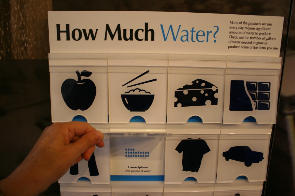 I never think about how much water it takes to make something.
