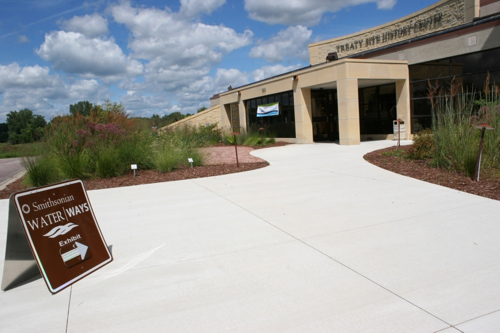The Treaty Site History Center sits along U.S. Highway 169 on the north edge of St. Peter.