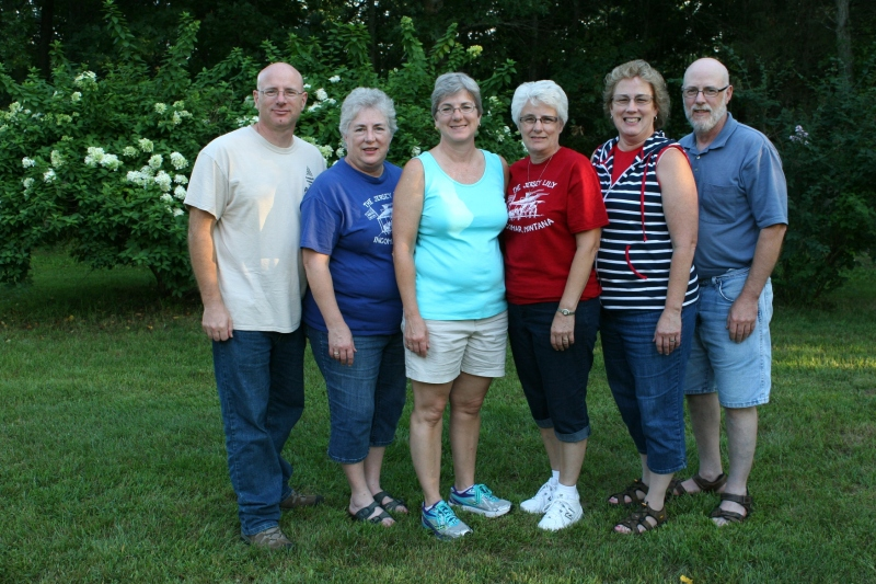 My husband, Randy, is on the right with his siblings who attended the reunion.