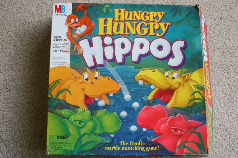 Hungry Hungry Hippos board game cover #9