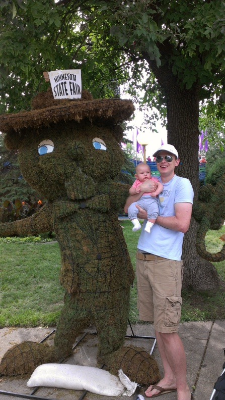 Isabelle's first official Minnesota State Fair photo, taken here with her daddy (my son-in-law), Marc. Photo by Amber.