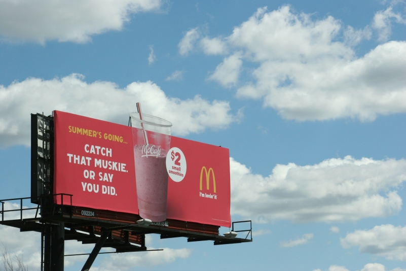 McDonald's muskie billboard in Minnesota