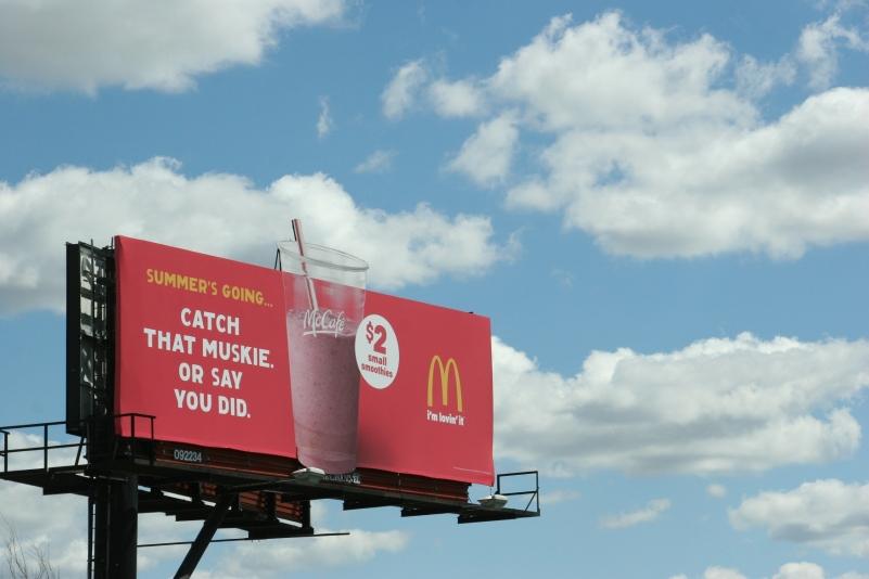 McDonald's muskie billboard in Minnesota