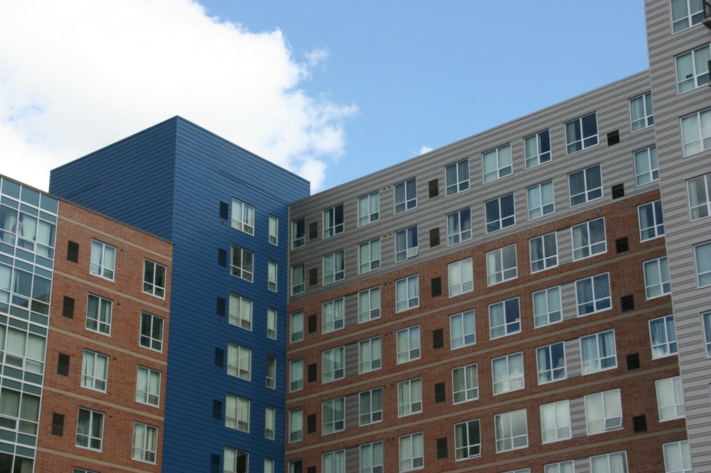 Just another view of the same apartment complex.