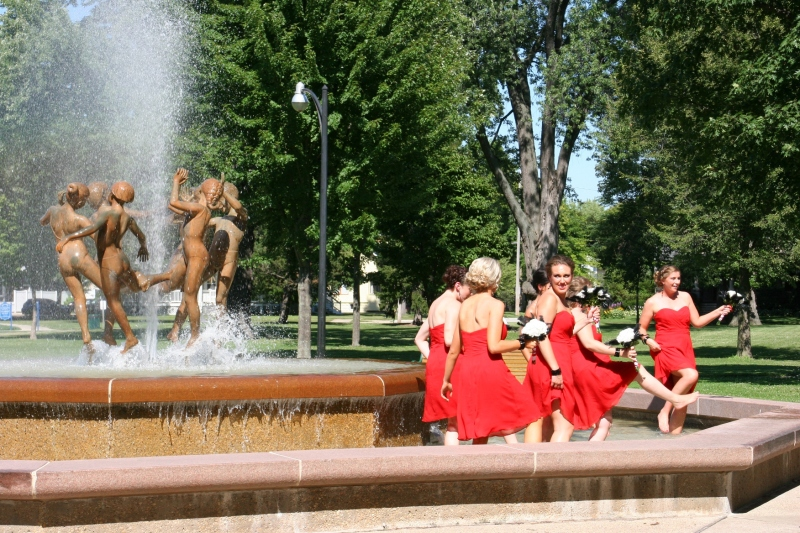 Ring Dance fountain, #56 cavorting