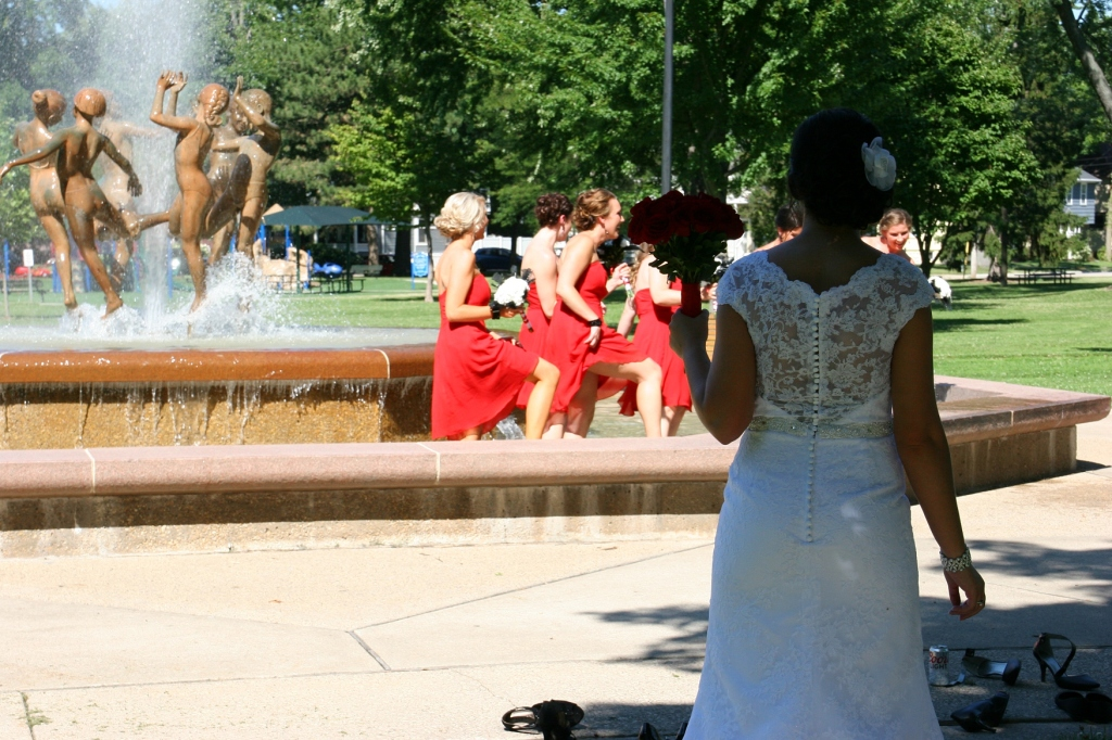 Ring Dance fountain, #58 bride watching