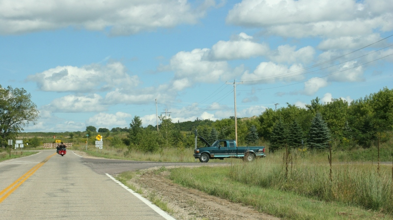 We came across this pick-up truck broken down along a rural county road near Ottawa. The driver was waiting for a tow truck.
