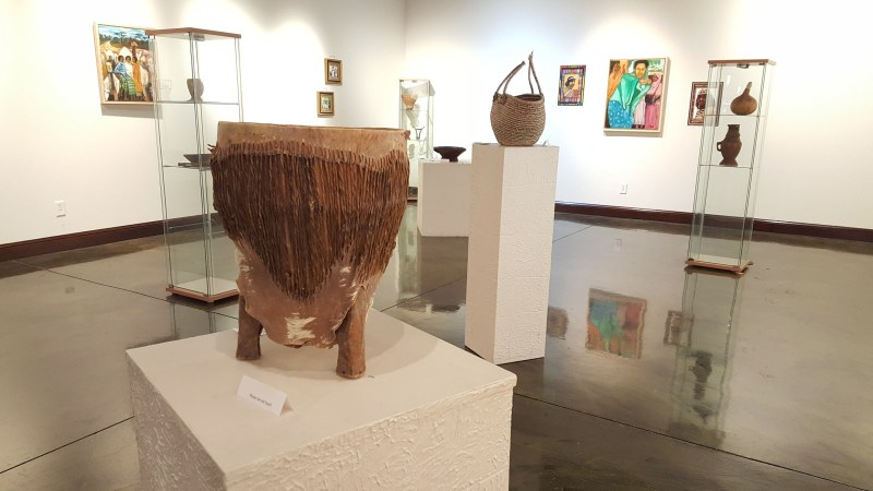 A sampling of the art showcased in the Somali exhibit at the Paradise. Photo courtesy of the Paradise Center for the Arts, Faribault.