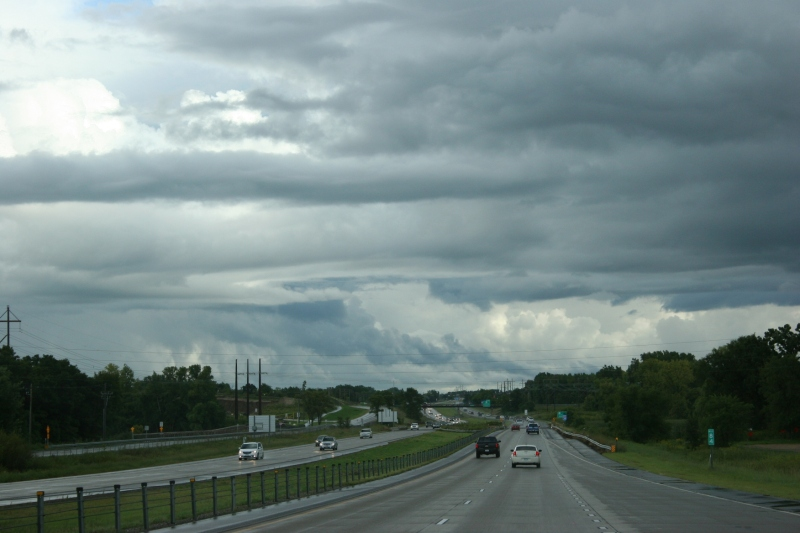 South of Burnsville, the clouds continued to build.