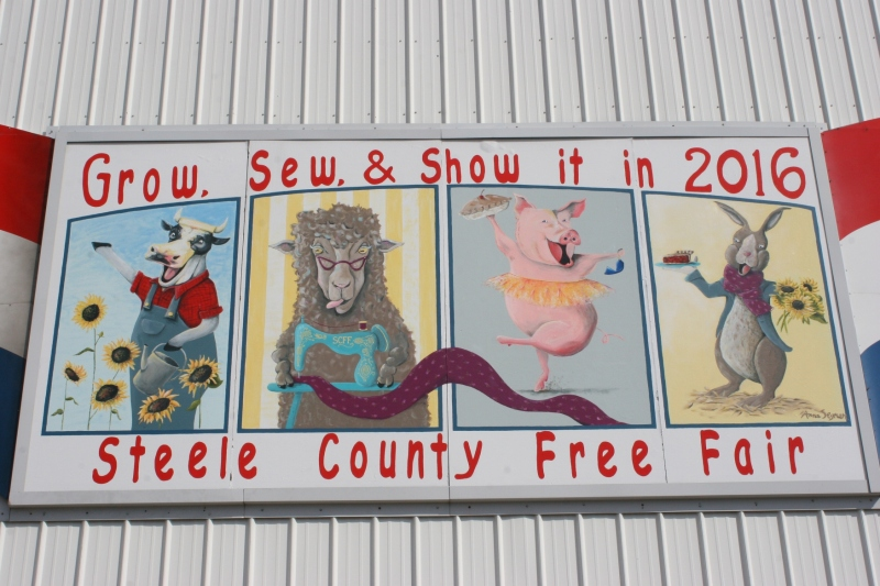 I photographed this art on the Steele County Free Fair grandstand in April. This is the theme and art for this year's fair.