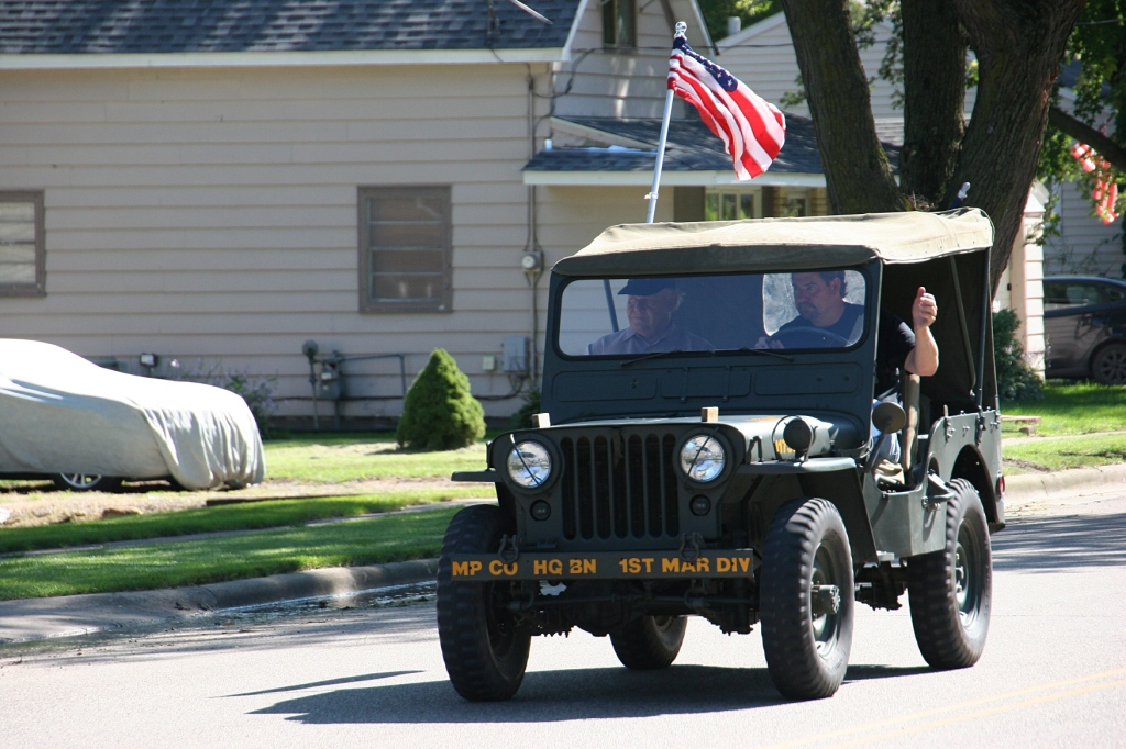 Vietnam Wall Memorial processional, #25 jeep