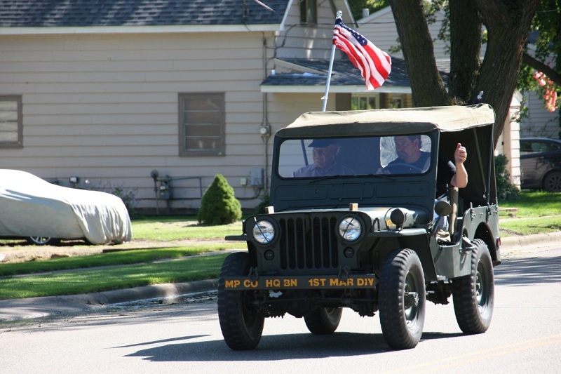 Vietnam Wall Memorial processional, #25 jeep