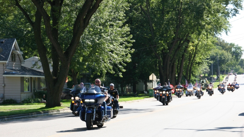 Vietnam Wall Memorial processional, #30 row of bikers
