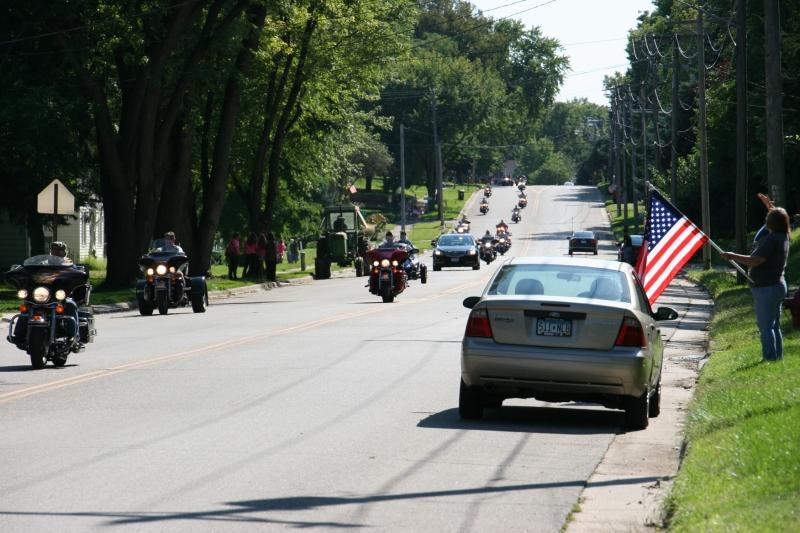 Vietnam Wall Memorial processional, #50 bikes