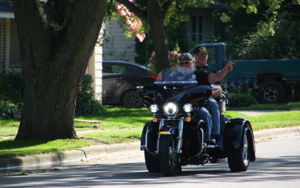 Vietnam Wall Memorial processional, #57 Vietnam vet on bike