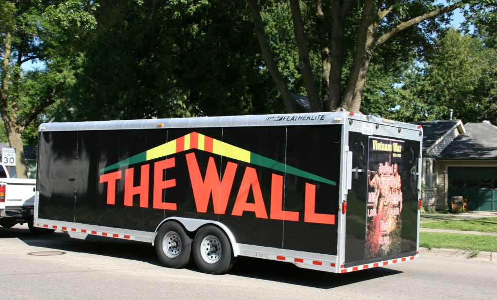 Volunteers will be setting up the wall on Thursday morning at the fairgrounds.