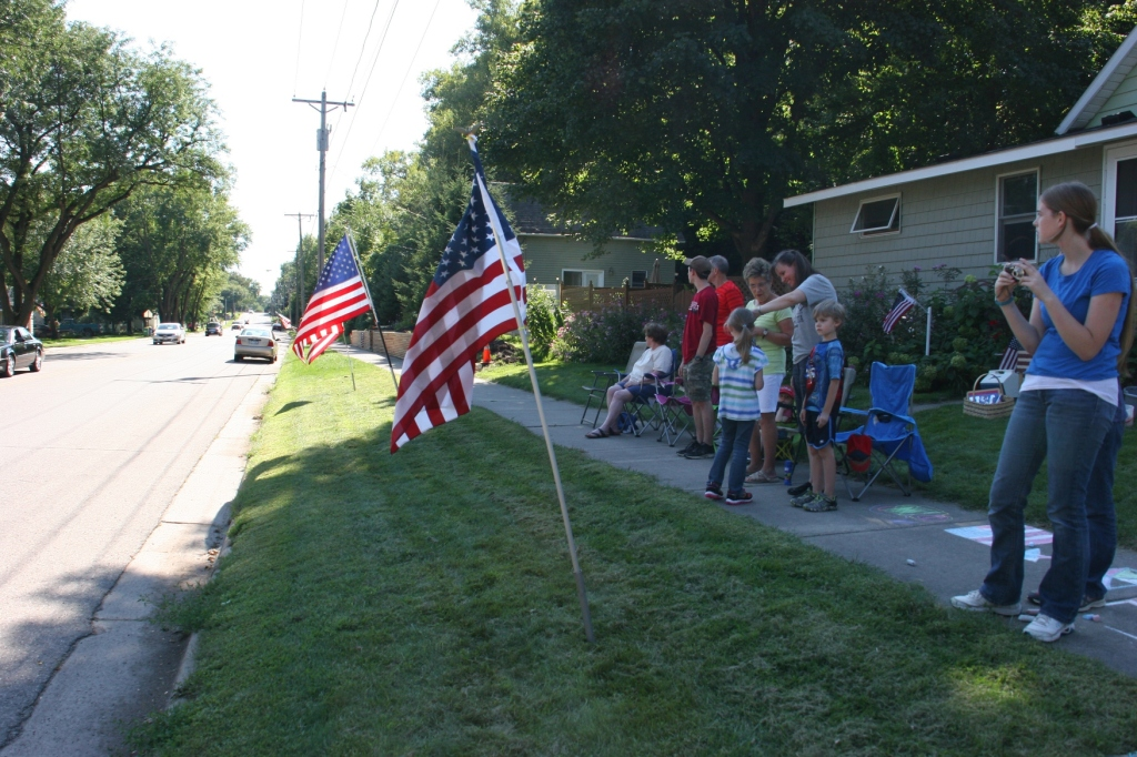 Vietnam Wall Memorial processional, #72 group by my house
