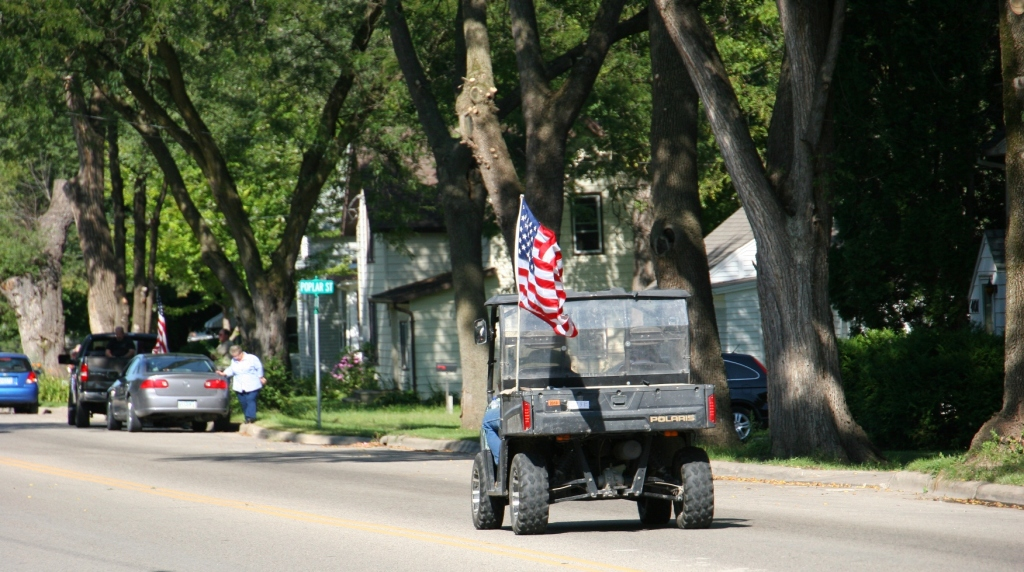 Vietnam Wall Memorial processional, #76 utility vehicle