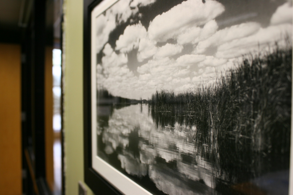 This photo of Swan Lake near Nicollet is one of 19 black-and-white images included in an exhibit by Kay Herbst Helms.