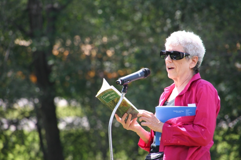 Mira Frank reads the works of published Minnesota poets, here from County Lines.