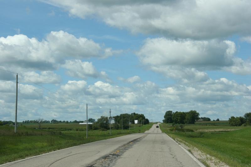 Westbound on Minnesota State Highway 99 west of Shieldsville.