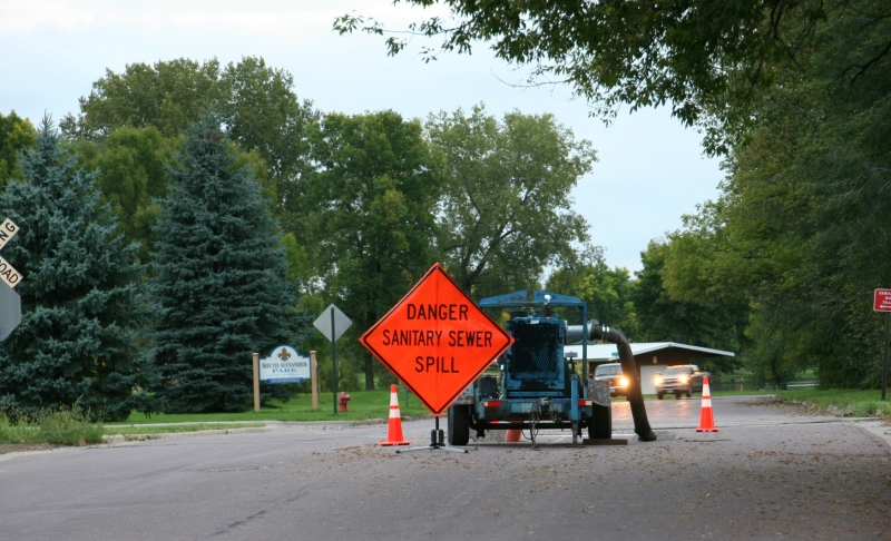 During past floods, there have been issues with the sewer system.