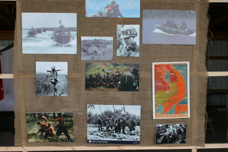 A collage of photos personalizes the Vietnam War.
