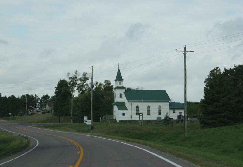Between Waterville and Elysian sits the Cannonville Community Church.