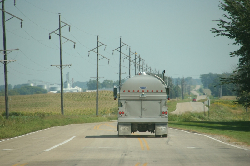 Fields and roadway stretch between Morristown and Faribault.
