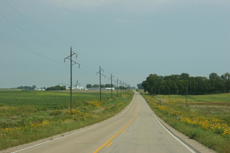Hints of autumn are visible everywhere along this rural roadway between Morristown and Faribault.