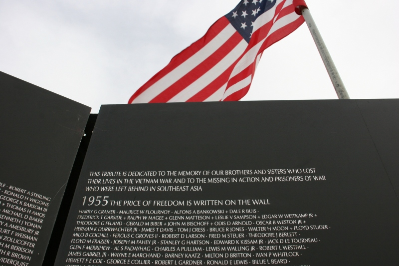 The words and all those soldiers' names personalize the Vietnam War on the wall.
